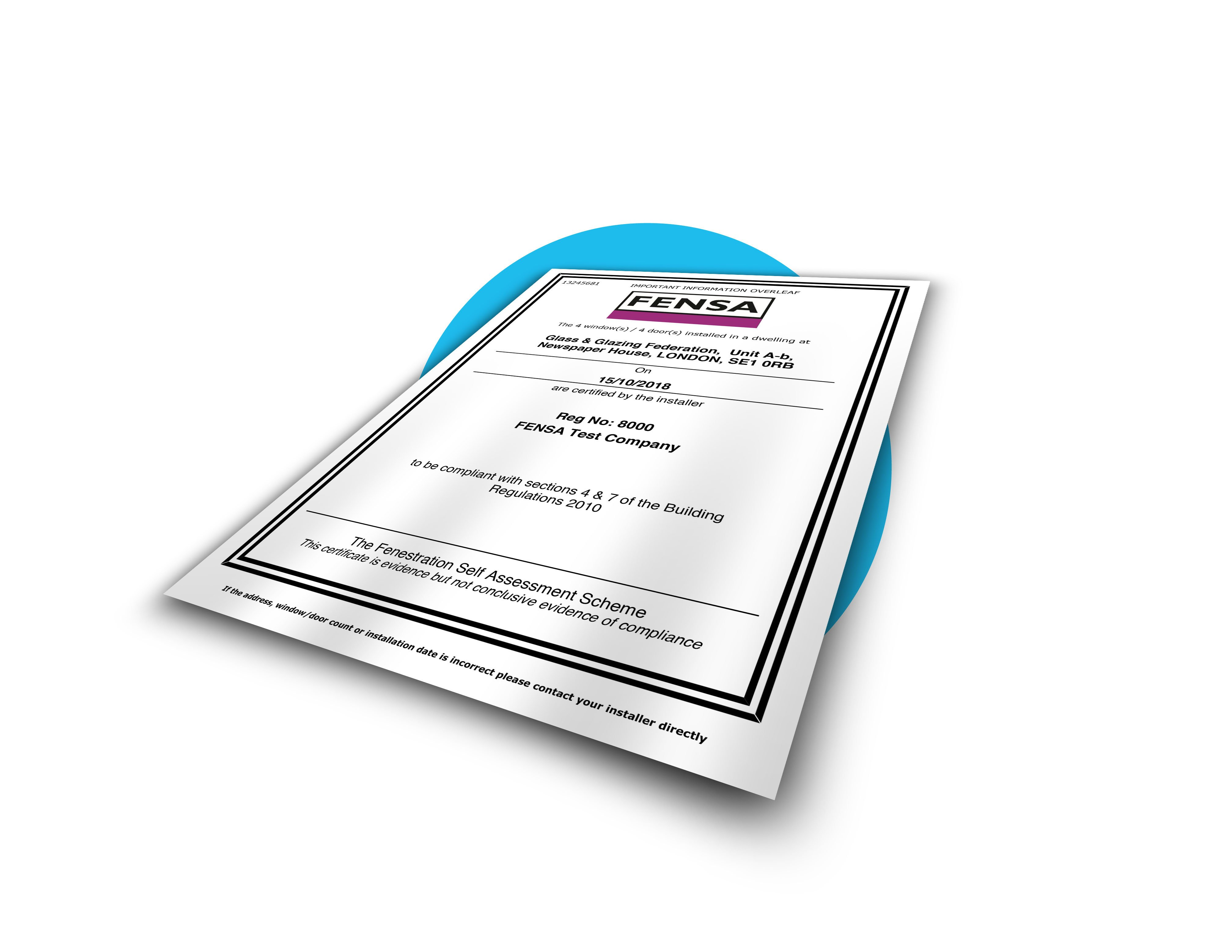Find and order your FENSA certificate